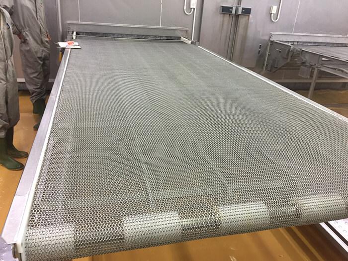 Một mẫu băng tải lưới inox