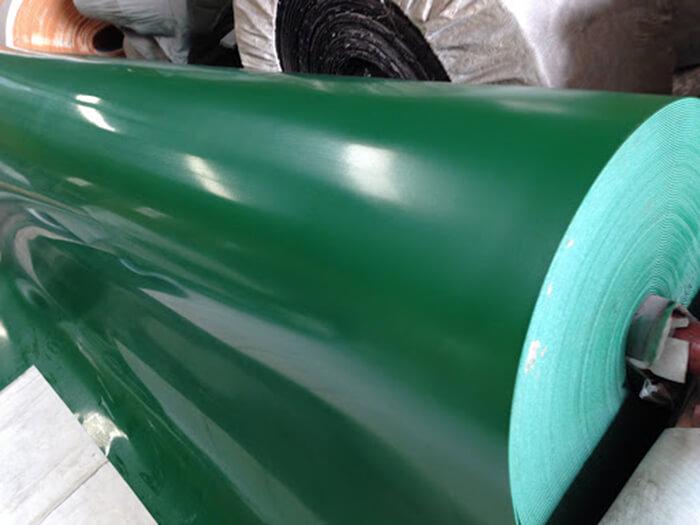 cuộn băng tải xanh chất liệu pu
