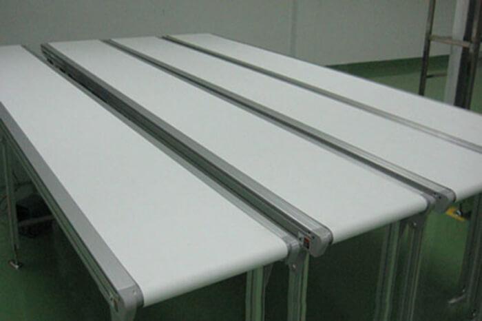 mẫu băng tải màu trắng chất lượng
